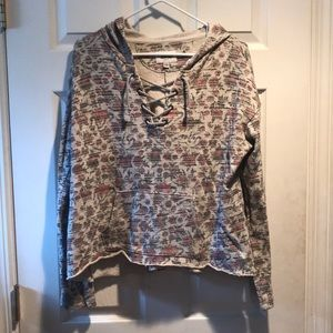 American eagle outfitters floral hoodie